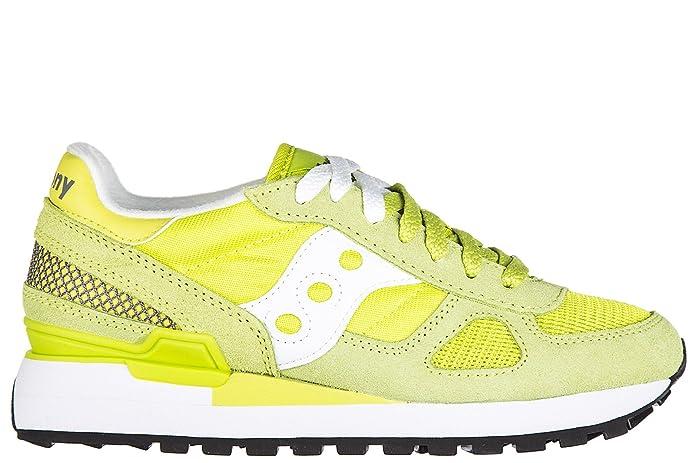 Saucony Scarpe Sneakers Donna Camoscio Nuove Shadow Verde EU 39 1108537