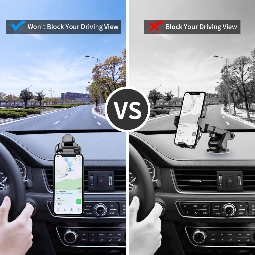 FLOVEME Universal Strong Suction Cup 360 Hands Free Magnet Cell Phone Car Holder for iPhone X XR 11 Pro Xs Max 7 8 Plus Samsung Galaxy S10 S9 S8 Note 10 9 Tablet Dashboard Magnetic Car Phone Mount