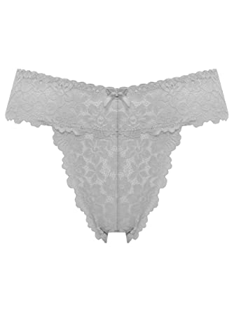 0a17a97e6a48 M&Co Ladies Soft Stretch Seamless No VPL Sheer Floral Milano Lace Satin Bow  Low Rise High Leg Briefs: Amazon.co.uk: Clothing