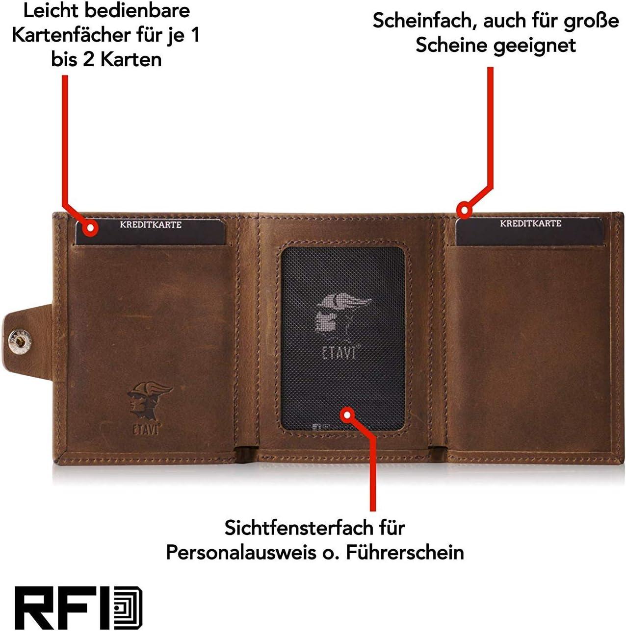 Slim Wallet Taipeh NEU: ETAVI/® Slim Wallet mit M/ünzfach Leder RFID-Schutz 12 Karten Smart Wallet f/ür M/änner und Damen Kartenetui mit M/ünzfach f/ür Herren