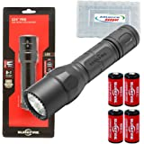 Surefire G2X Pro 600 Lumen Dual-Outputs LED Flashlight with 2 Extra CR123A Batteries and Alliance Gadget Battery Case