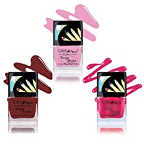 Color Fever Ultra Sparkle Nail Color, Blush/Pink, 9ml (Pack of 3)