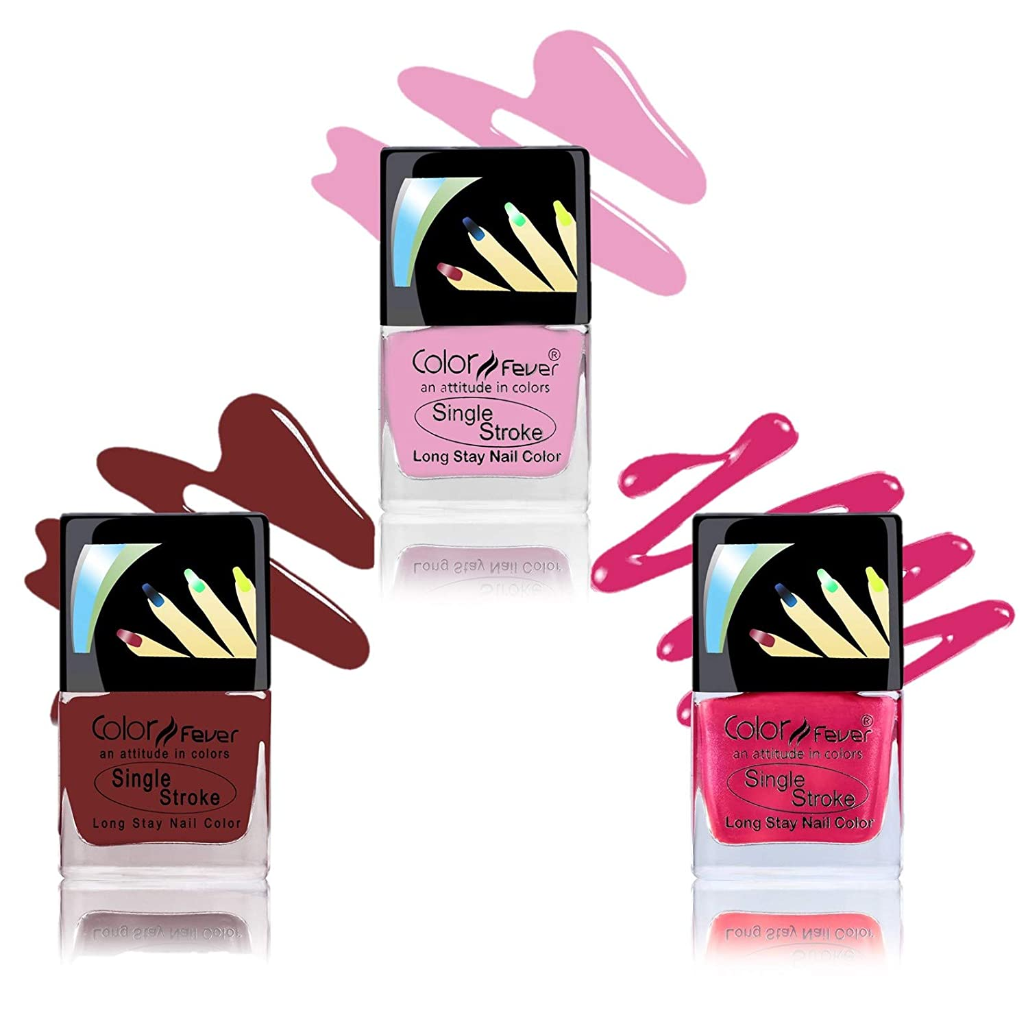 Color Fever Ultra Sparkle Nail Color (Pack of 3)