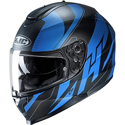 HJC C70 Helmet - Boltas (Medium) (Blue/Black): Automotive