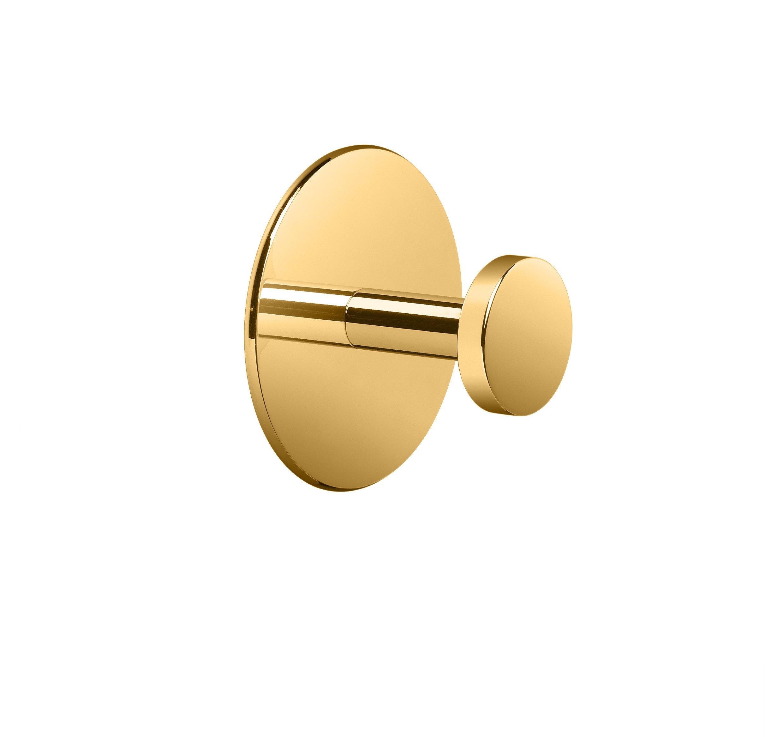 W-Luxury Wall Towel Robe Hook Hanger for Bath/Kitchen Towel Holder, Brass (Polished Gold)