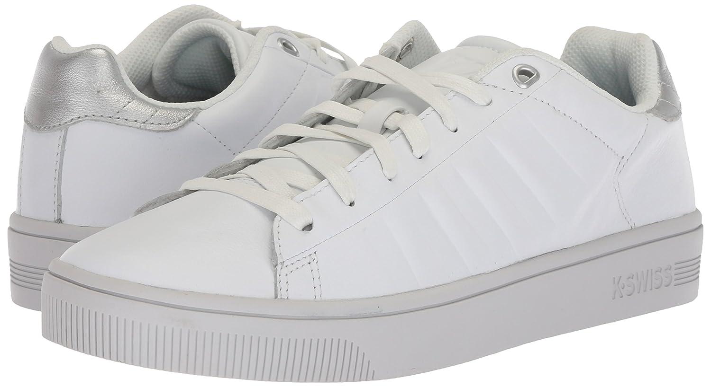 Flacon De Cour K-suisse, Des Chaussures Des Femmes, Blanc, 39,5 Eu (à Peine Blanc / Argent / Bleu)