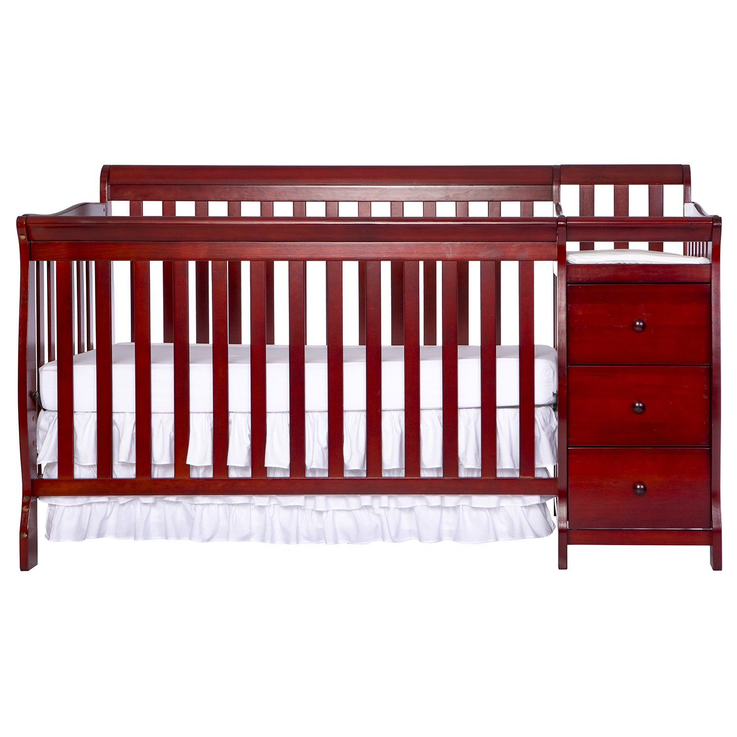 Dream On Me 5 in 1 Brody Convertible Crib with Changer, Cherry