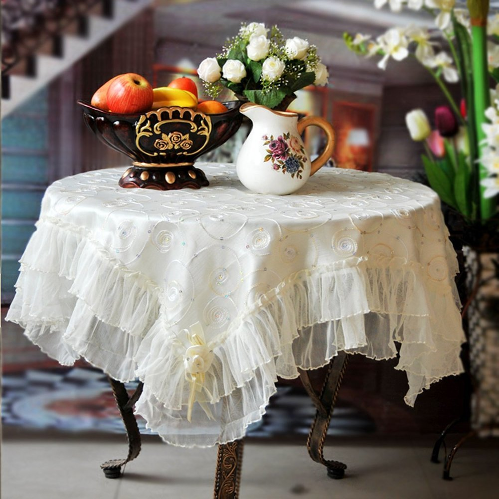 Europäischer kristall tischtuch,tischdecke,schreibtisch-tischdecke,runde tischdecke,lace korean style fabric-A 130x180cm(51x71inch) A 130x130cm(51x51inch)