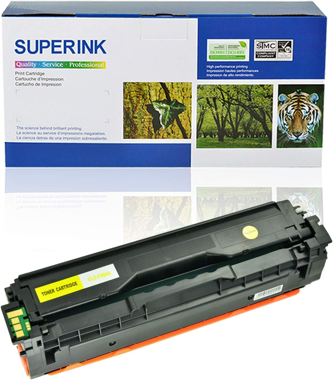 1 Yellow SuperInk High Yield Replacement Compatible Toner Cartridge for Samsung CLT-504S CLT-Y504S use in CLP-415N CLP-415NW CLX-4195 CLX-4195N CLX-4195FN CLX-4195FW Xpress SL-C1860FW SL-C1810W