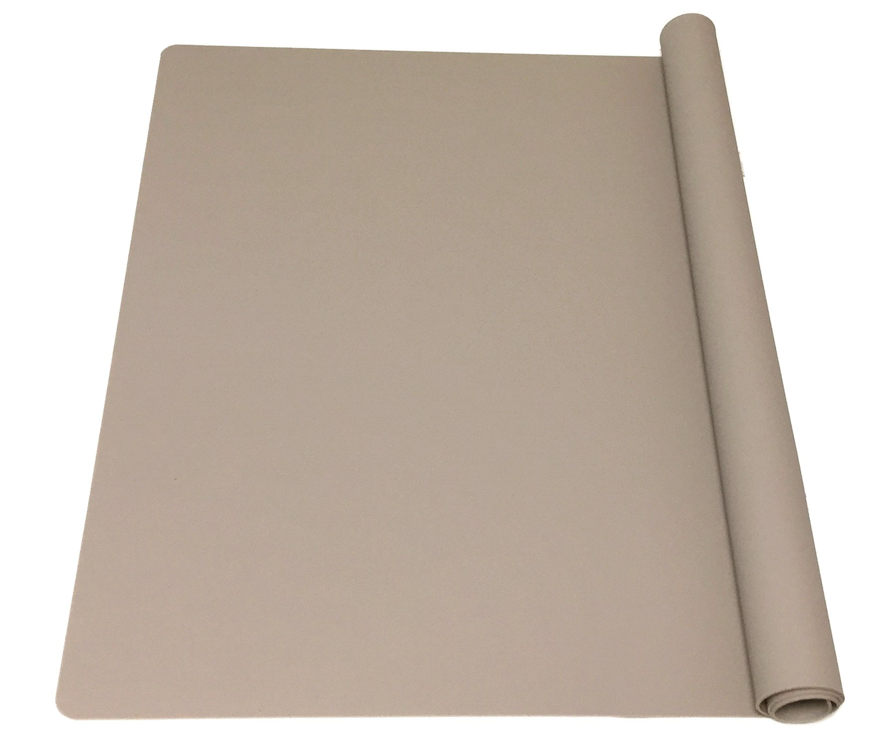 EPHome Extra Large Multipurpose Silicone Nonstick Pastry Mat, Heat Resistant Nonskid Table Mat, Countertop Protector, 23.6''15.75'' (XL, Taupe)