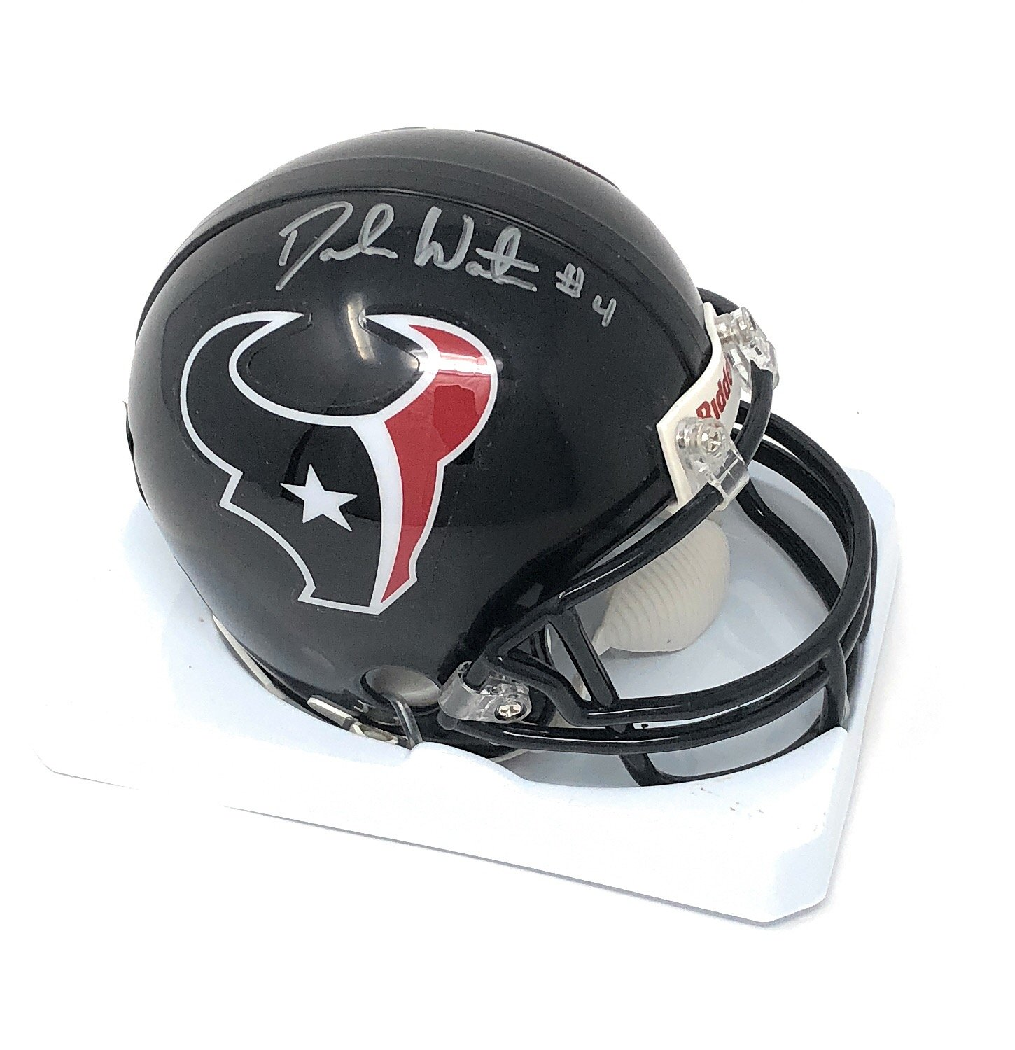 Deshaun Watson Houston Texans Signed Autograph Mini Helmet GTSM Athlete Hologram