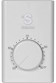Line Voltage Thermostat, Electric Heaters Only. Stelpro SWT1F, Single Pole  (2 Wire
