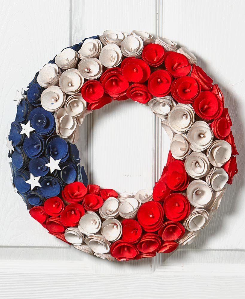 The Lakeside Collection 16'' Round Americana Wreath