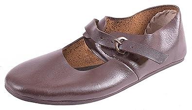 6d92a6331282c Ulfberth Riemenschuhe mit Schnalle aus Leder - Mittelalterschuhe - Mittelalter  LARP Wikinger Schuhe Schuhgröße 36