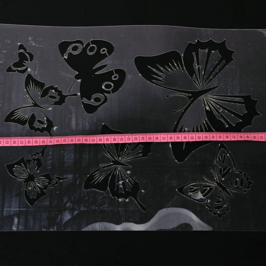 Sharplace Pochoir de Peinture Murale Motif de Papillon pour bricolage D/écoration de Mur Maison Bureau Chambre