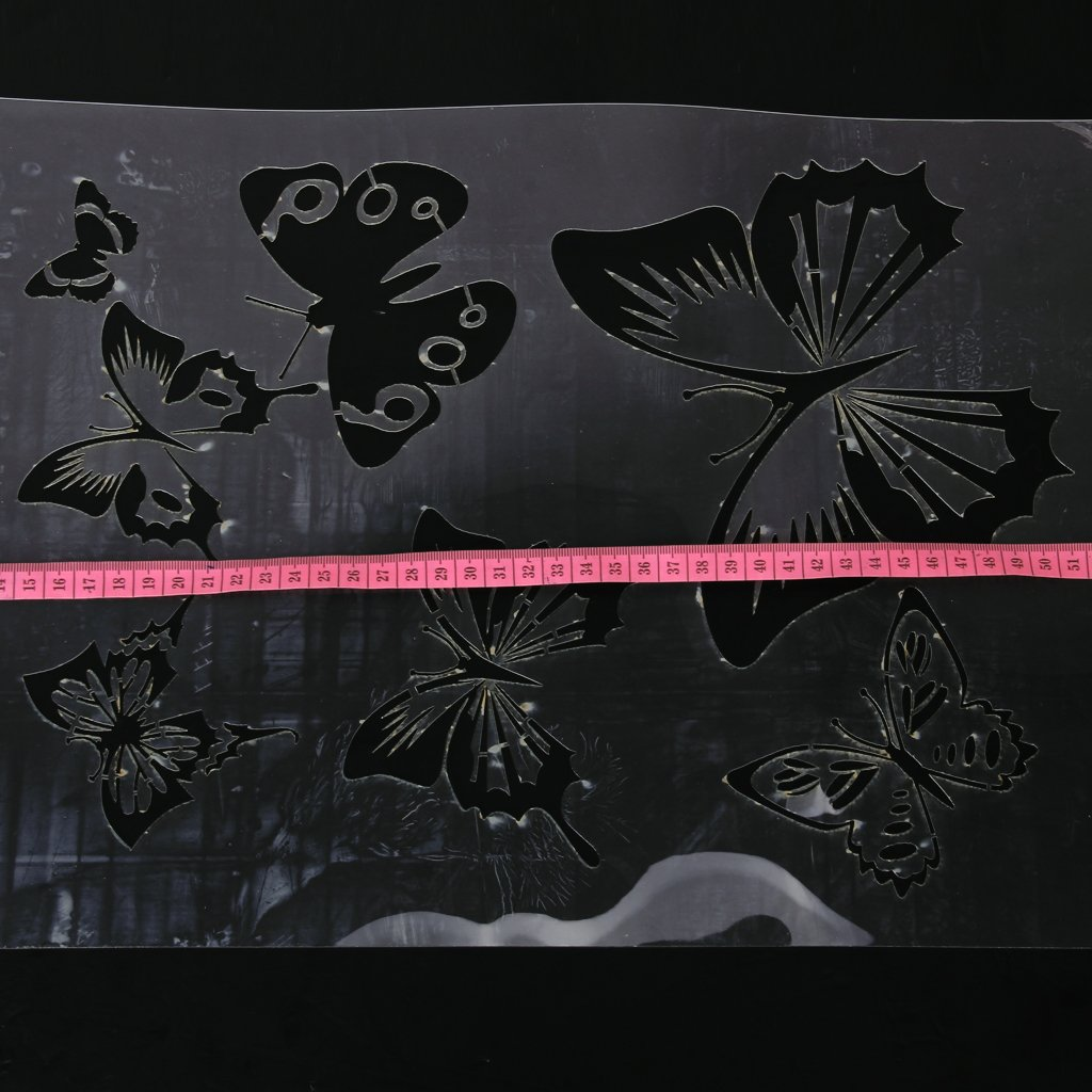 Pochoir de Peinture Murale Motif de Papillon pour D/écoration de Mur