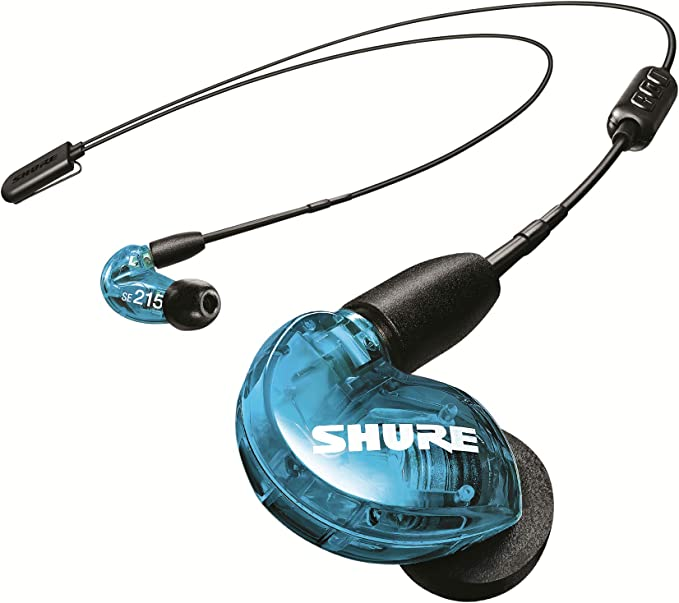 AmazonSmile: Shure SE215 BT2 Wireless Sound Isolating Earbuds, Premium Audio with Deep Bass, Single Driver, Bluetooth 5, Secure In-Ear Fit - Blue: Shure: Musical Instruments