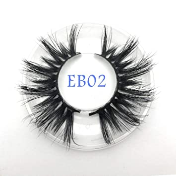 d4f122f542f Amazon.com : New arrival mink lashes 25mm natural long 3D mink strip fur  handmade eyelashes wholesale price, EB02 : Beauty