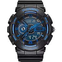 Smael Analogue Digital Dual Quartz Movement Military Design Black Dial Water Resistant Sports Men's Watch…