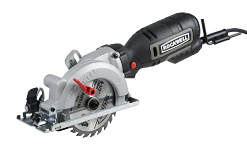 "1. Rockwell 4-1/2"" Compact Circular Saw, 5 amps, 3500 rpm, with Dust Port and Starter Kit– RK3441K"
