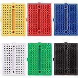 MCIGICM 6PCS 170 tie-Points Mini Breadboard for Arduino