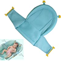 Baby Bath Support Seat, Newborn Shower Mesh For bathtub, 2018 New Style Adjustable Comfortable Non-Slip Bath Seat For Infant 0-3 Years (Blue)