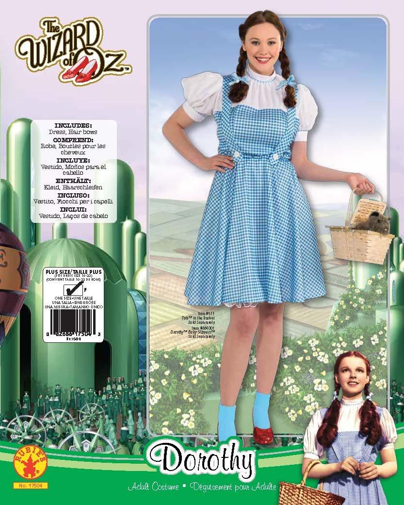Rubie 's Offizielles Dorothy Zauberer von Oz Damen, Erwachsenen Größe Kostüm – Plus Größe Erwachsenen 169572