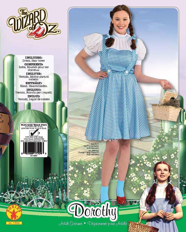 Amazon.com: Rubie's Costume Plus-Size Wizard Of Oz, Deluxe Dorothy ...
