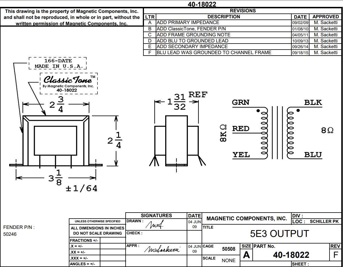 Amazon com: ClassicTone Output Transformer # 40-18022