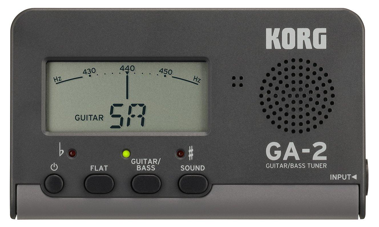 Korg GA-2Accordeur numérique pour guitare et basse avec piles Basics