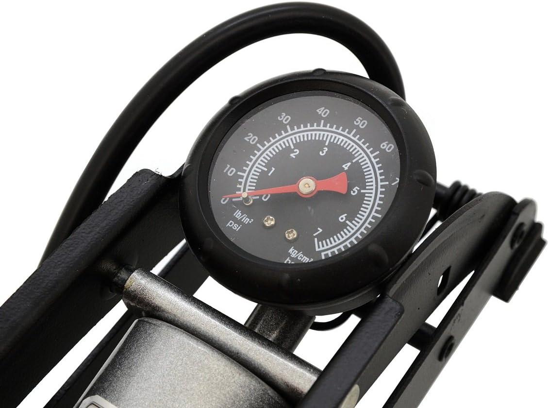 Compass 09153 Fu/ßluftpumpe mit Manometer einkolben T/ÜV//GS 1x120mm