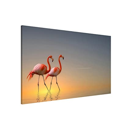 Bilderwelten Pizarra magnética - Flamingo Love - Formato ...