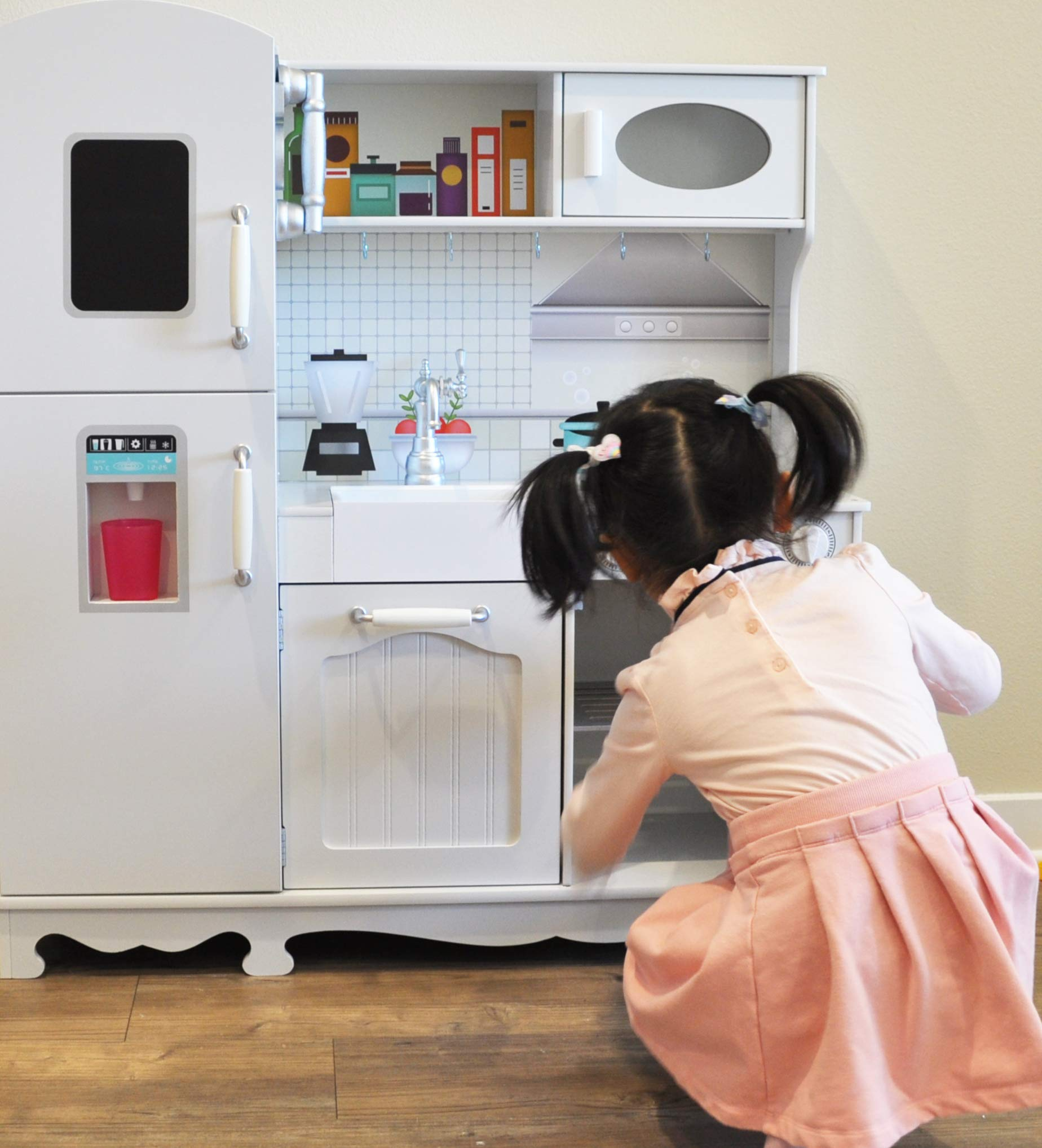 Rainbow Sophia Timeless Wood Kids Play Kitchen by Rainbow Sophia (Image #5)