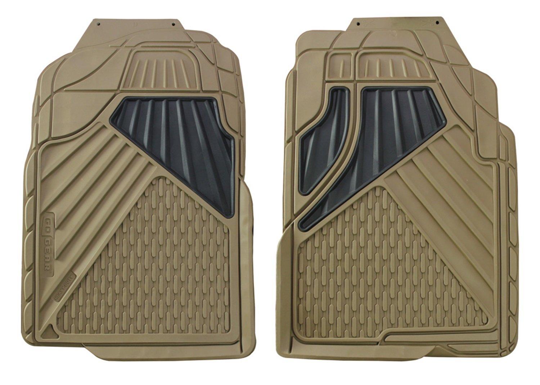 2 Piece Set Hopkins 79142 Go Gear Mid Size Heavy Duty Beige Floor Mats