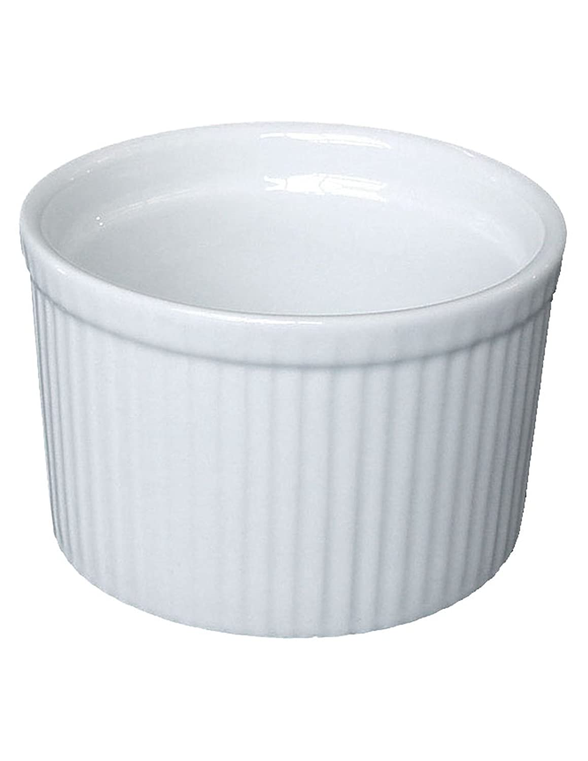 Bia Cordon Bleu White Porcelain 10-Ounce Tall Individual Souffle, Set of 4 900020S4