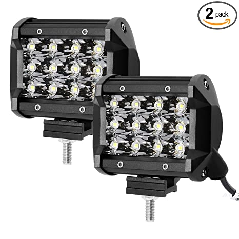 Amazon le 2pcs 4 inch led light bar 36w waterproof driving spot le 2pcs 4 inch led light bar 36w waterproof driving spot light triple row 3600lm for aloadofball