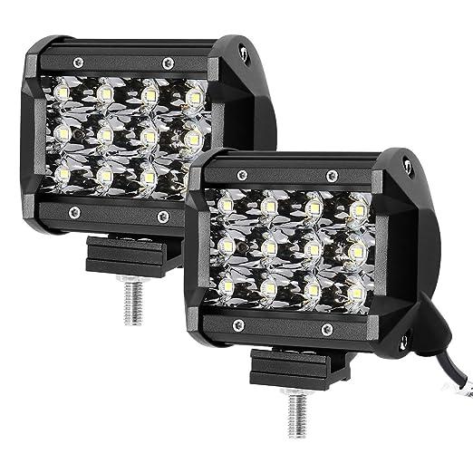7 opinioni per LE 2 Fari LED 36W 2520lm, fascio di luce combinato Proiettore Fendinebbia