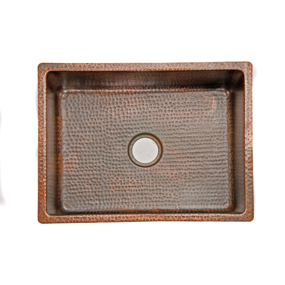 Premier Copper Products KSDB25199 25-Inch Hammered Copper Kitchen ...