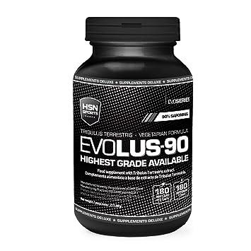 Evolus 90 de HSN Sports- Tribulus Terrestris 90% Saponinas, Aumento de Masa Muscular