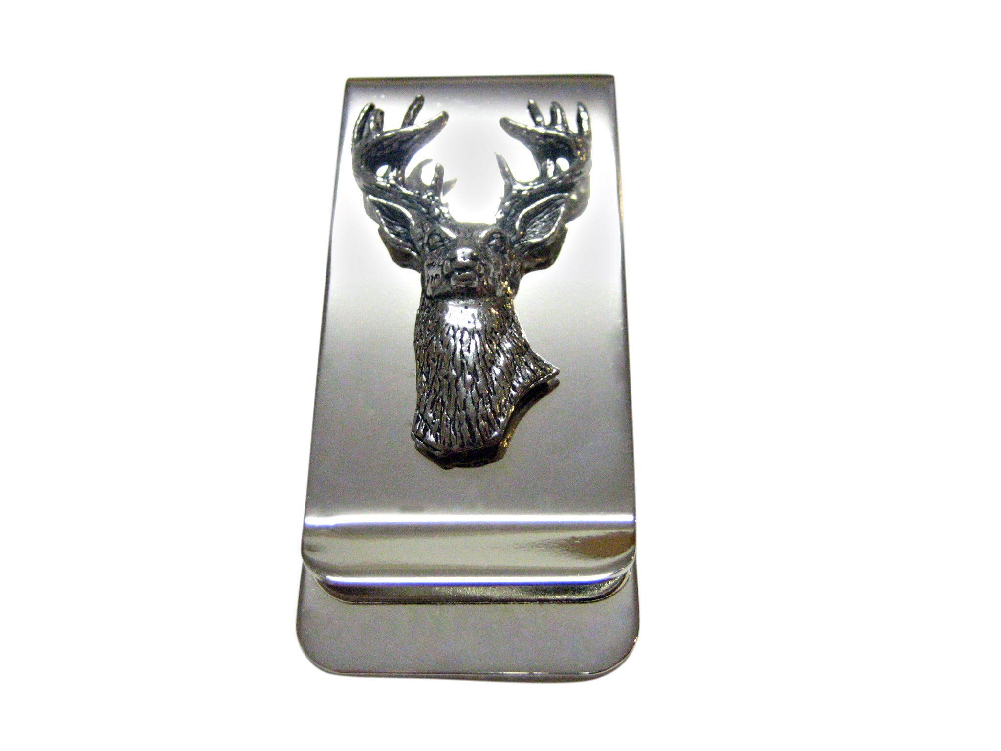 White Tailed Stag Deer Head Money Clip