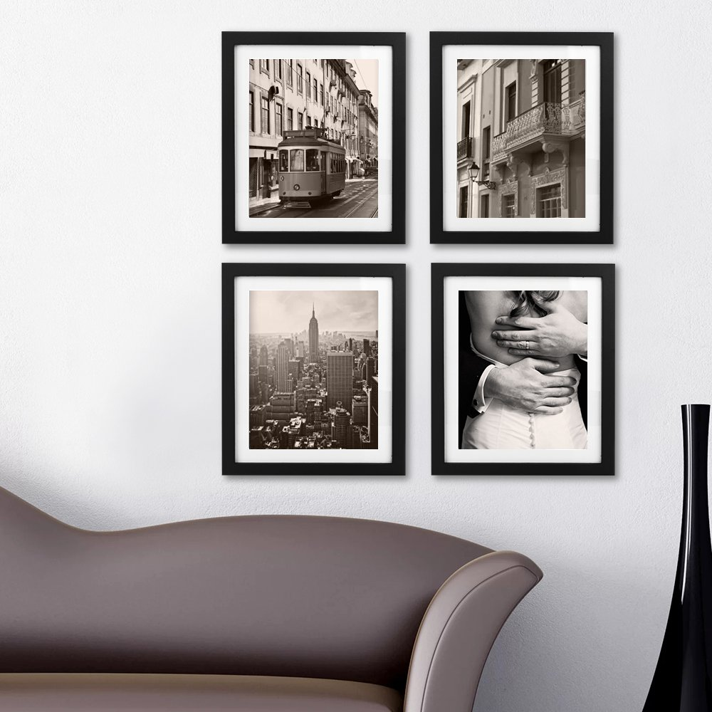 Picture Frames 8x10 Picture Frame Photo Frames 8x10 Magazine Frame Solid Wood Glass Photography Frames 10x12 Black Picture Frame - Made to Display Pictures 8x10 by BEOKREU (Image #3)