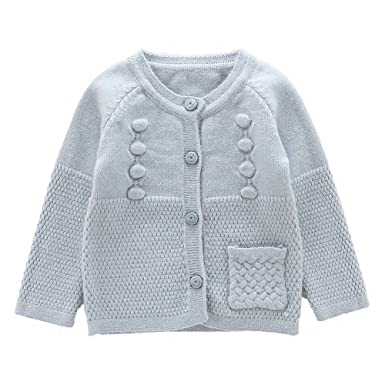 a10538c01 Amazon.com  Moonnut Little Girls  Long Sleeve Knit Cardigan Sweater ...