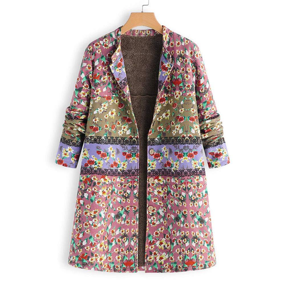 Amazon.com: Mnyycxen Women Vintage Floral Print Cardigan, Winter Warm Outwear Button Oversize Plush Coat (L, Blue): Musical Instruments