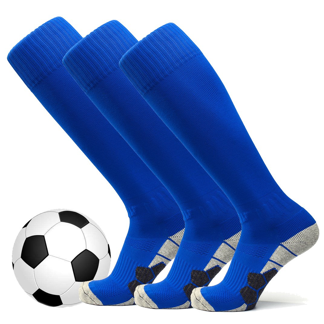 welltree Unisex Knee High Soccer & Football Cushion Socks(Children/Youth/Adult)