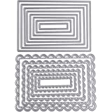 2 Set Fustelle Stencil Cutting Dies per DIY Scrapbooking Album Di Carta Della Carta del Mestiere Biglietti per Goffratura Rettangolo Fustelle Natale