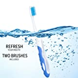 2 Pieces Travel Folding Toothbrush Portable Soft