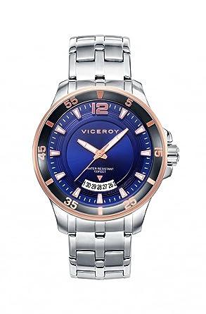 Amazon.com: Reloj Viceroy 42255 – 35 Acero Azul Hombre ...