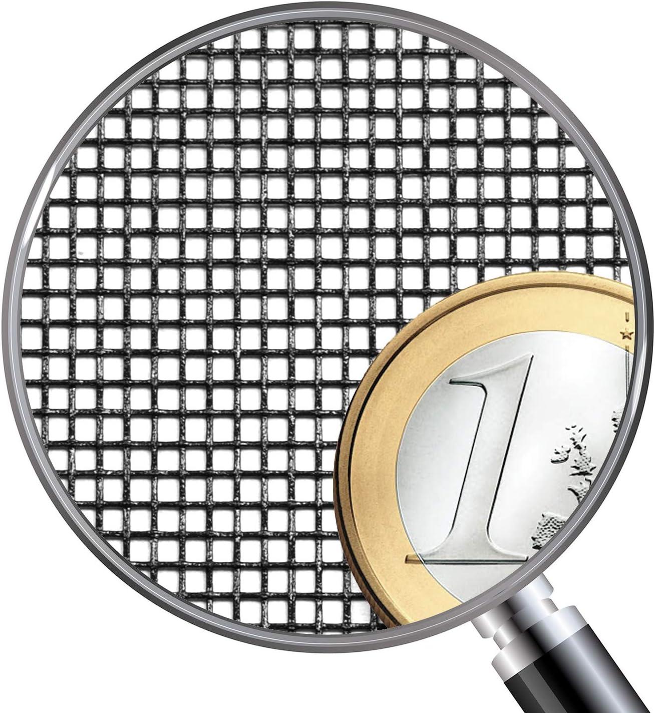 UV- und witterungsbest/ändig 1,0m x 1,2m, Grau Insetto Fliegengitternetz aus Fiberglasgewebe