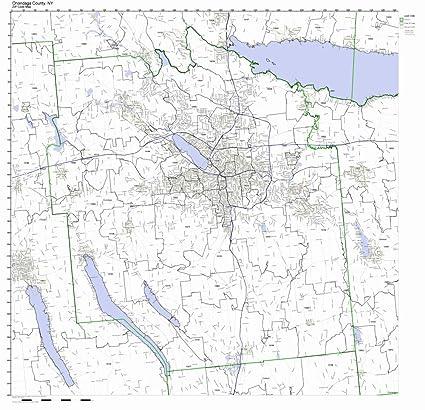 Amazon Com Onondaga County New York Ny Zip Code Map Not Laminated