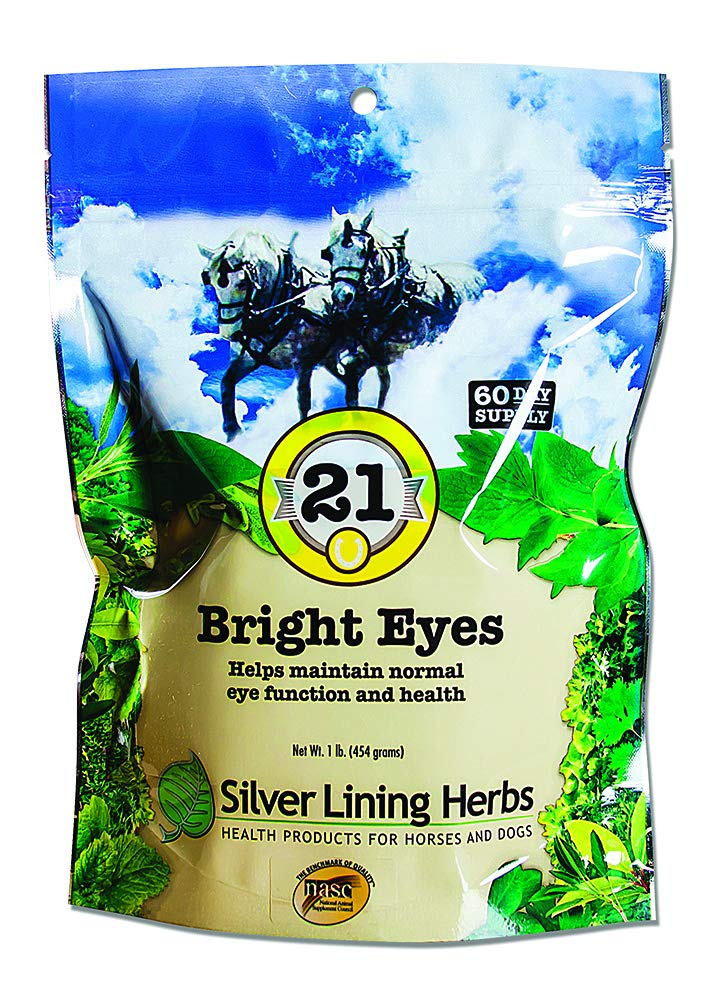 Bright Eyes |Supports Horse Eye Health | Keeping Horses Mineral Levels for the Eyes Normal | Supports Long Term Equine Eye Health  | 1 Pound Bag | Made In The USA by Silver Lining Herbs of Natural Herbs by Silver Lining Herbs